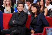 Real-life couple Marion Cotillard and Guillaume Canet appear together for a taping of