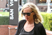 A pregnant Kimberly Stewart has lunch at La Scala in Brentwood.