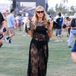 Looking Fabulous In Sheer Black Lace At Coachella 2015