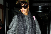 Rihanna leaves her hotel with yet another new haircut for her duet with Matt Cardle on tonights X Factor final, the pair will be singing Rihanna's latest single 'What's my name.'.