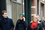Taylor Swift hangs with her family in New York City.