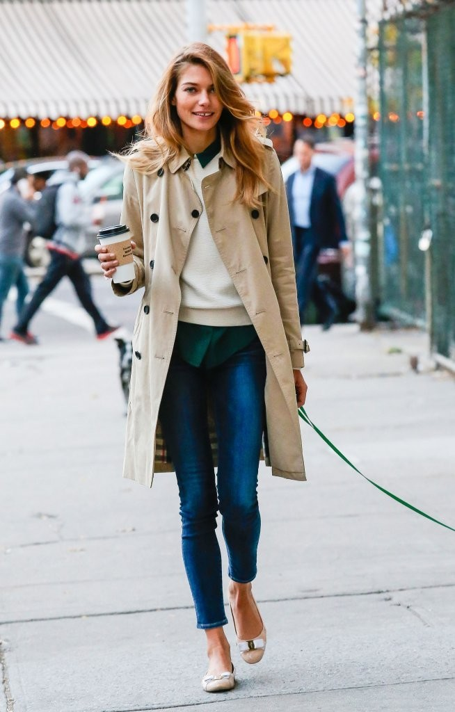 Style Inspiration Jessica Hart 39 S Autumn Layers Mid Day Pick Me Up Livingly