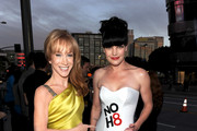 Comedian Kathy Griffin (L) and actress Pauley Perrette arrive at the 2011 People's Choice Awards at Nokia Theatre L.A. Live on January 5, 2011 in Los Angeles, California.