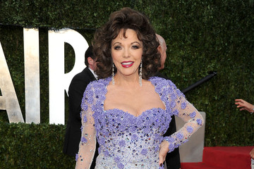 Joan Collins Brings the Fabulous to the Vanity Fair Oscar Party