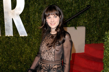 Zooey Deschanel Charms in Valentino at the Vanity Fair Oscar Party