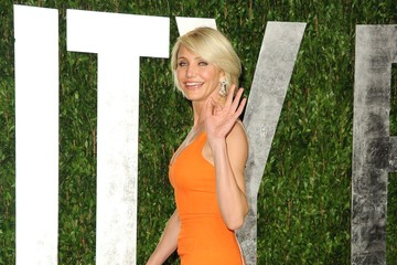 Cameron Diaz's Bold Orange Oscars Party Dress