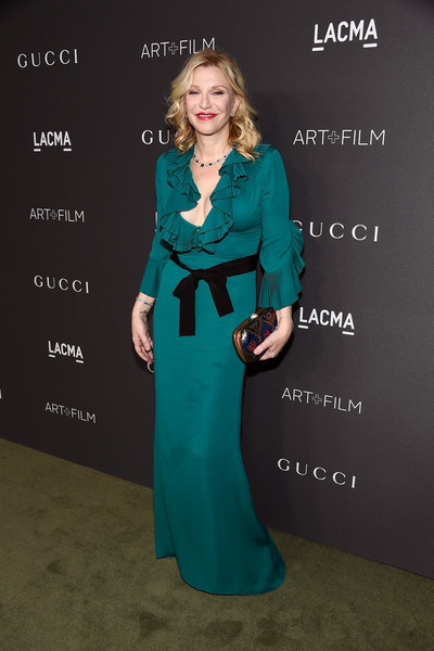 Courtney Love in Emerald Ruffles