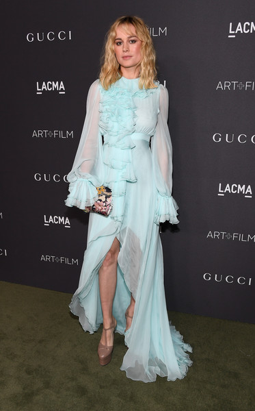 Brie Larson in Baby Blue Ruffles