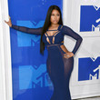 Nicki Minaj in Navy Blue Mesh