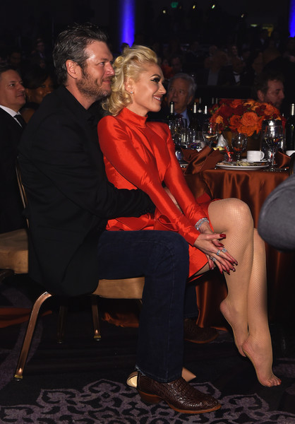When She and Blake Were Extra Cute at the 2016 Pre-Grammy Gala