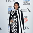 Mixing Bold Salvatore Ferragamo Prints At The 2017 Film Independent Spirit Awards