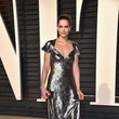 Amanda Peet in a Metallic A-Line Gown