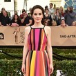 Michelle Dockery in Colorful Stripes