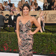 Gina Rodriguez in an Embroidered Slip Dress