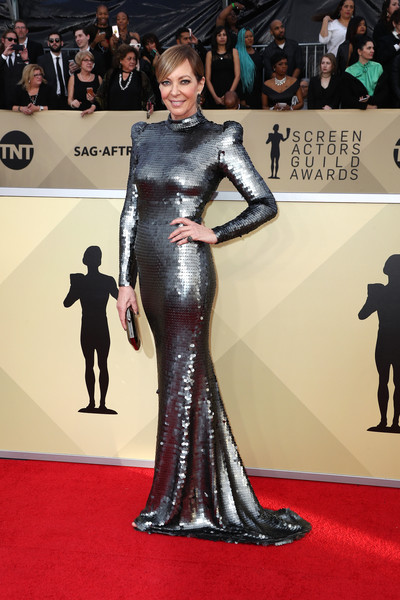 Allison Janney In Yanina Couture At The SAG Awards