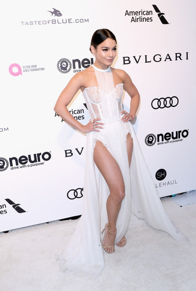 Vanessa Hudgens in a White Corset Dress