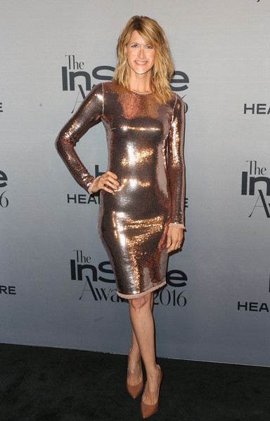 Laura Dern in Rose Gold Sequins