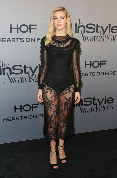 Nicola Peltz in Sheer Black Lace