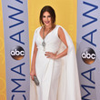 Hillary Scott In Pamella Roland At The CMA Awards, 2016