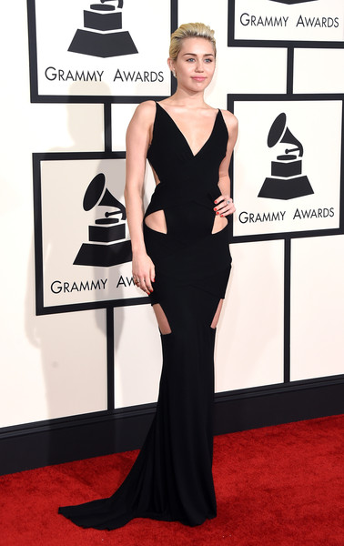 Miley Cyrus at the 2015 Grammy Awards