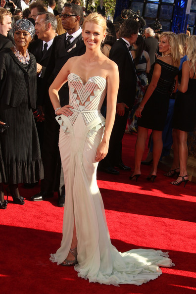 January Jones 2009 Emmy Awards