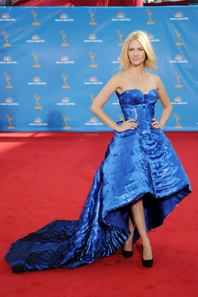 January Jones 2010 Emmy Awards