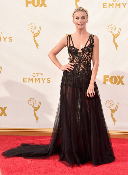 Julianne Hough In Marchesa At The Emmy Awards, 2015
