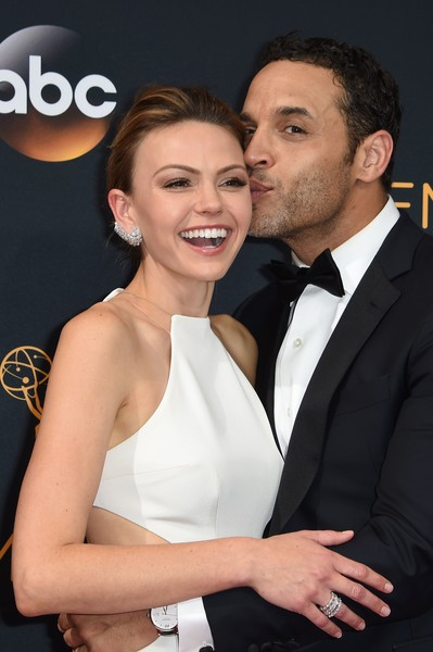 Aimee Teegarden and Daniel Sunjata