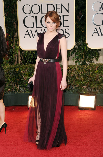 Emma Stone in Lanvin at the 2012 Golden Globes
