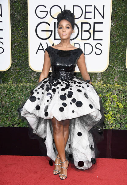 Janelle Monae in in Armani Price at the Golden Globes