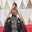 Janelle Monae in Black Applique and Beading