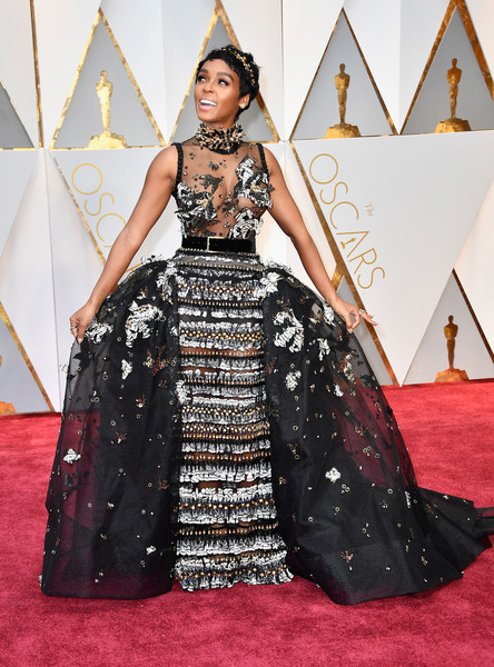 Janelle Monae at the 2017 Oscars