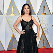 Salma Hayek in Lacey Black