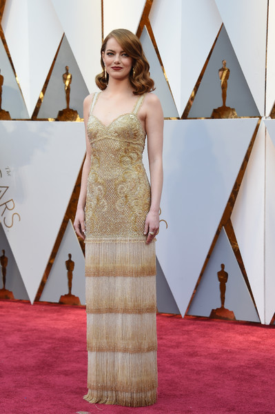 Emma Stone in a Flapper-Inspired Dior Gown
