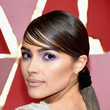 Olivia Culpo Side-Slicked Ponytail and Bangs at the Academy Awards