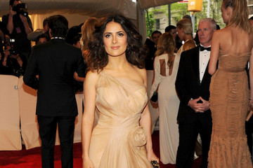 Salma Hayek Best Dressed in Nude Alexander McQueen at 2011 Met Gala