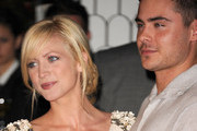 Actress Brittany Snow (L) and actor Zac Efron arrive at Audi and Designer J. Mendel's Kick Off Celebration of Golden Globe Week 2011 at Cecconi's Restaurant on January 9, 2011 in Los Angeles, California.