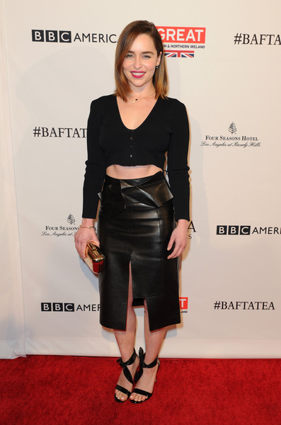 Fierce in Leather and a Crop-Top