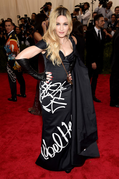 Rebellious In A Moschino Graffiti-Print Gown At The 2015 Met Gala