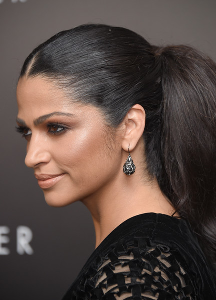 Camila Alves' Voluminous Ponytail at a New York Premiere