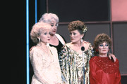 (L-R) Betty White, Bea Arthur, Rue McClanahan and Estelle Getty on stage at The 42nd Primetime Emmy Awards on September16, 1990 at Pasadena Civic Auditorium, Pasadena, California.