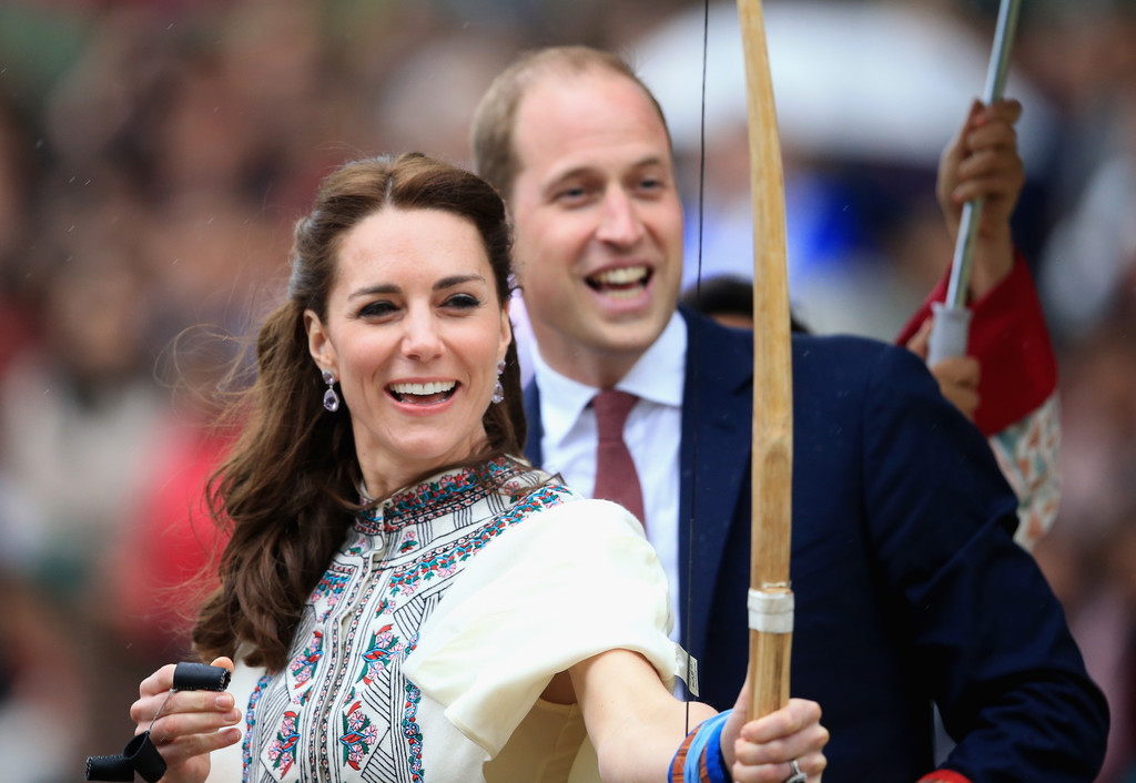 When Kate tried her hand at archery.