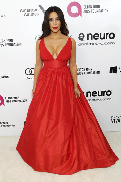 Smoking Hot In A Red Empire Gown At A 2014 Oscars Party