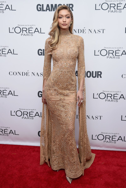 Gigi Hadid in Zuhair Murad at the Glamour Women of the Year Awards