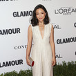Constance Wu in an Ivory Jumpsuit