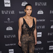 Sporting Black Lace Givenchy At The Harper's Bazaar Icons Event in 2016