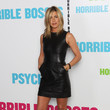 In A Leather Celine LBD At The London Premiere Of 'Horrible Bosses'