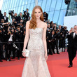 Alexina Graham Gold Accented Strapless Dress