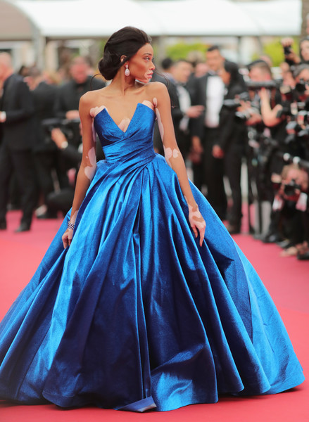 Winnie Harlow in Zuhair Murad at the Cannes Film Festival