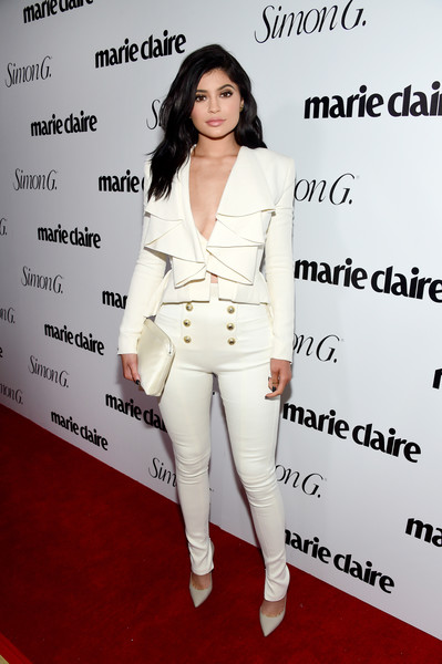 Wearing A Flirty Balmain Pantsuit At The 'Marie Claire' Fresh Faces Party In 2016